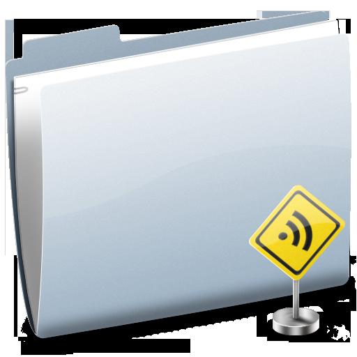 Folder, Rss, Sign Icon