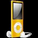 Ipod, Nano, Off, Yellow Icon