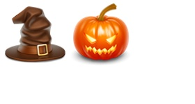 Hat And Pumpkin Icons