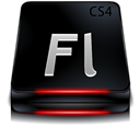 Adobe, Black, Cs, Flash Icon