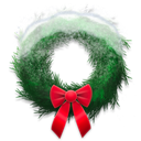 Holiday, Snowy, Wreath Icon
