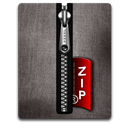 Black, Silver, Zip Icon