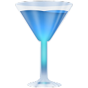 Blue, Wineglass Icon