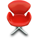 Chair, Red Icon
