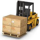 Containers, Forklift Icon