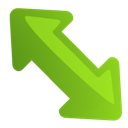 Arrow, Diagleft Icon