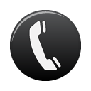 Black, Telephone Icon