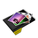 My, Pictures, Pile, Yellow Icon