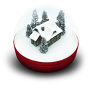 Globe, Snow, Xmas Icon