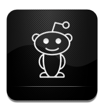 And, Black, Reddit, White Icon