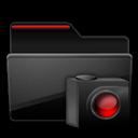 Black, Cameras, Folder, Red Icon