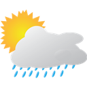 Rain, Sunny, Weather Icon