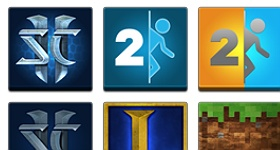 5 Simple Games Icons