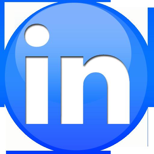 Linkedin, Sphere Icon