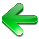 Arrow, Green, Left Icon