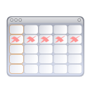 Calendar, Evolution Icon