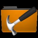 Development, Folder, Orange Icon
