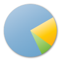 Analytics, Blue, Chart, Pie, Statistics Icon