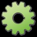 Gear, Green Icon