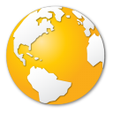 Earth, Globe, Internet, World, Yellow Icon