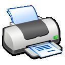 Printer, Text Icon