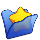 Blue, Favourite, Folder Icon
