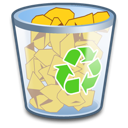 Bin, Full, Recycle Icon