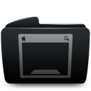 Black, Desktop, Folder Icon