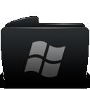 Black, Folder, Window Icon