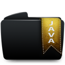 Black, Folder, Java Icon