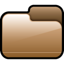Brown, Closed, Folder Icon