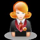 Girl, Student Icon