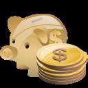 Bank, Cash, Deposit, Money, Piggy, Savings Icon
