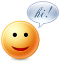 Chat, Cute, Hi Icon