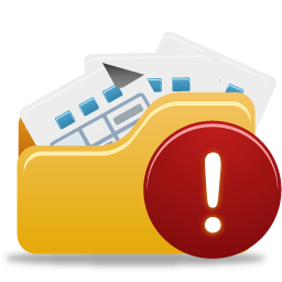 Folder, Open, Warning Icon