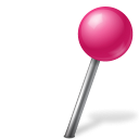 Ball, Map, Marker, Pink, Right Icon