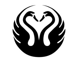 duck,round,complex,swan logo