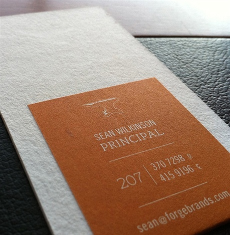 Forge Brands Letterpress business card