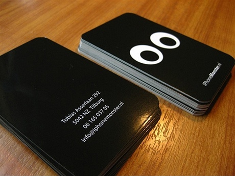 black,contrast color business card