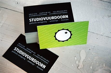 matte,contrast color,laminated business card