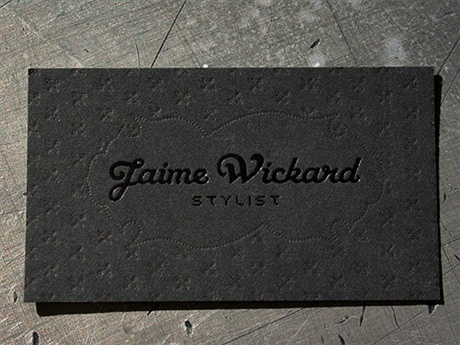 black,minimalistic,foil stamped,letterpress business card