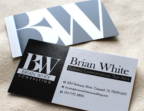 simple,one color business card