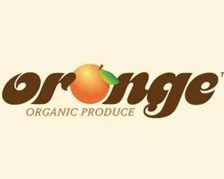 fruit,leaf,orange,fancy logo