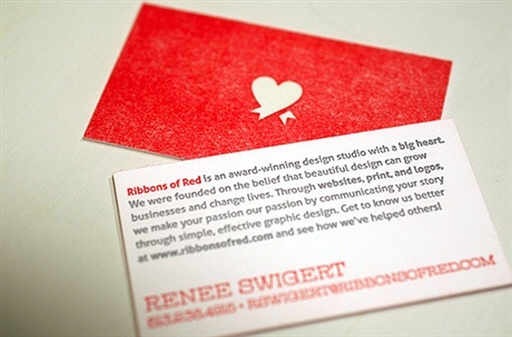 red,2 color business card