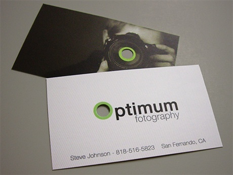 die cut,silk laminated business card