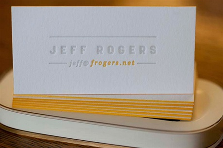 Edge Painted Letterpress business card