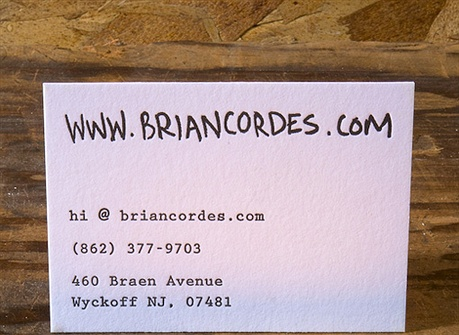 Bright Color Letterpress Cards business card