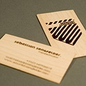 Unique Wooden Business Cards