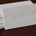 Gustavo - Embossed Letterpress Card