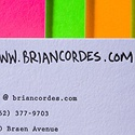 Bright Color Letterpress Cards